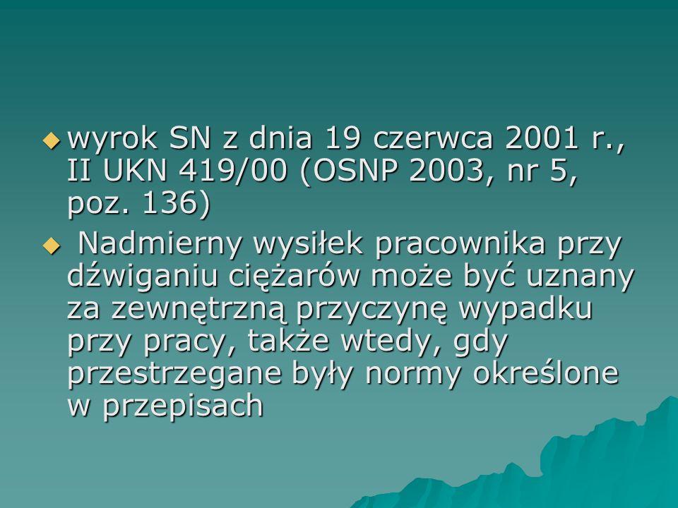 wyrok SN z dnia 19 czerwca 2001 r