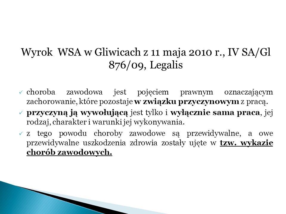 Wyrok WSA w Gliwicach z 11 maja 2010 r., IV SA/Gl 876/09, Legalis