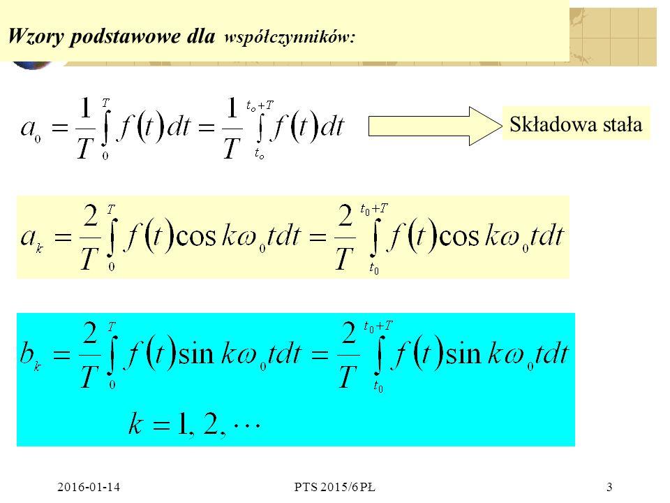 Wzory podstawowe dla współczynników: