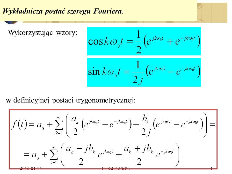 Wykładnicza postać szeregu Fouriera: