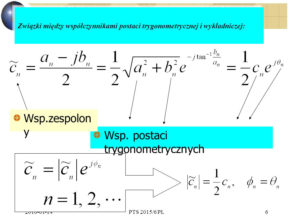 Wsp. postaci trygonometrycznych