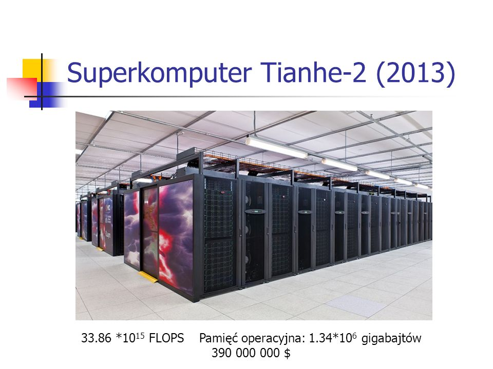 Superkomputer Tianhe-2 (2013)