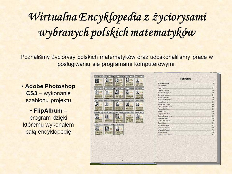 Wirtualna Encyklopedia z życiorysami wybranych polskich matematyków