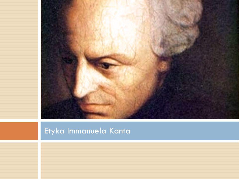Etyka Immanuela Kanta