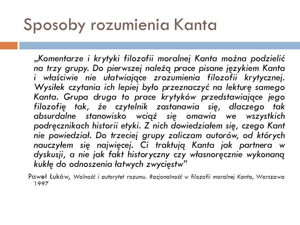 Sposoby rozumienia Kanta