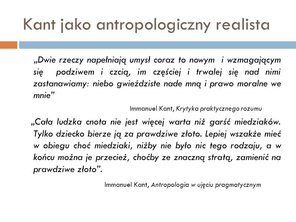 Kant jako antropologiczny realista