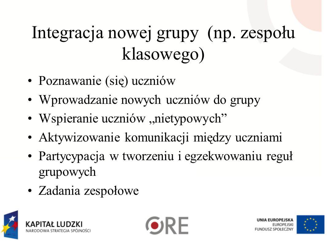 Integracja nowej grupy (np. zespołu klasowego)