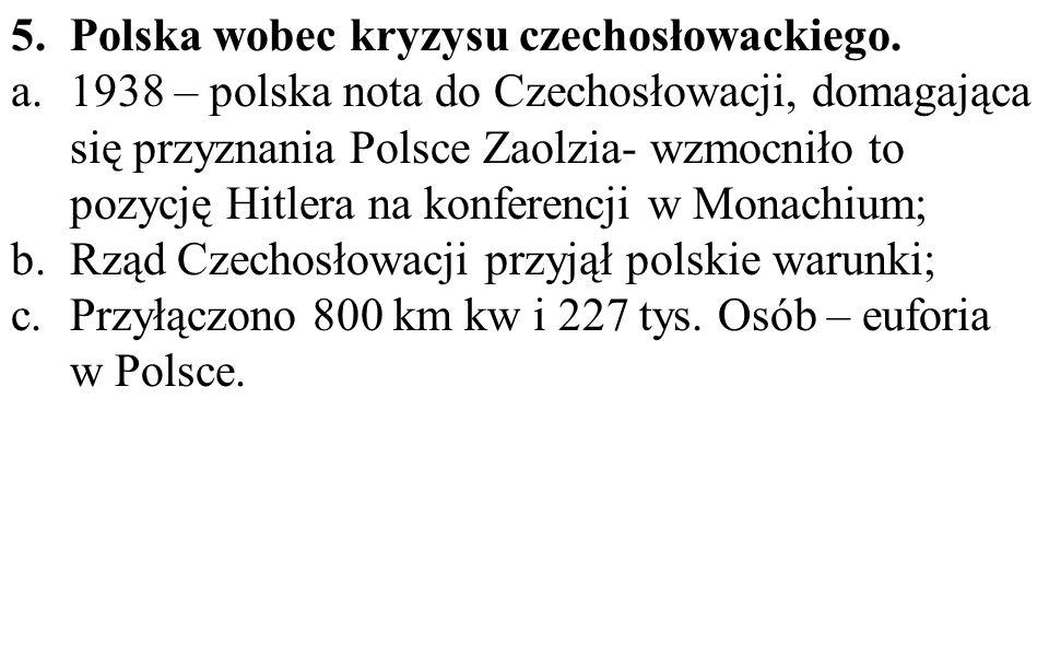 Polska wobec kryzysu czechosłowackiego.