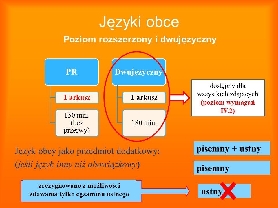 Poziom rozszerzony i dwujęzyczny