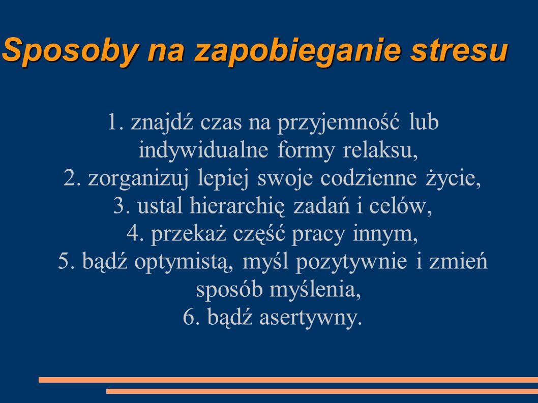 Sposoby na zapobieganie stresu
