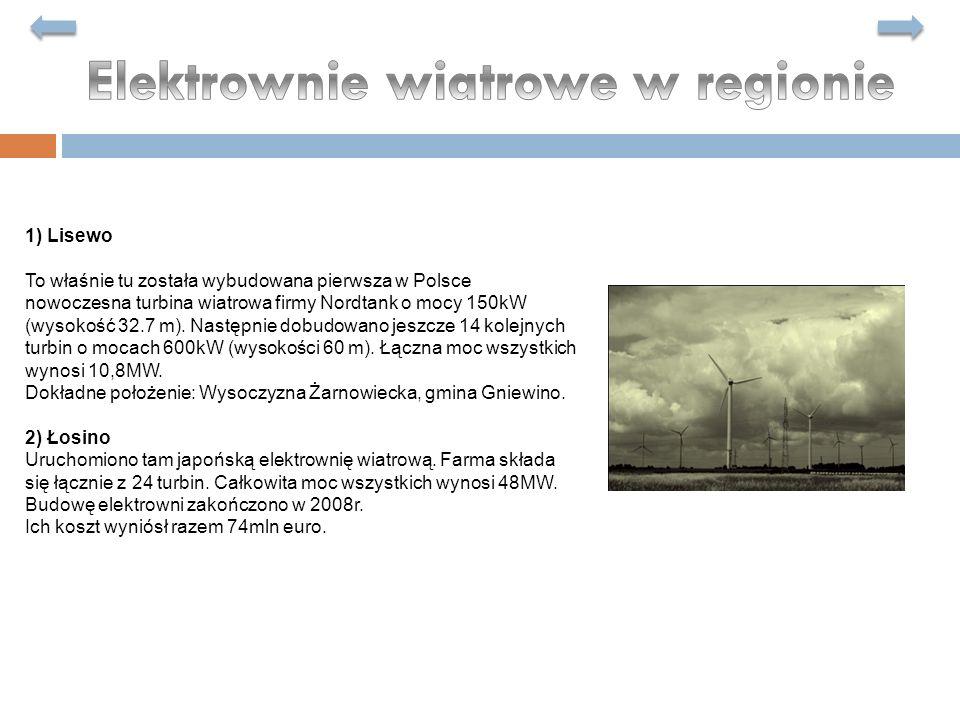 Elektrownie wiatrowe w regionie