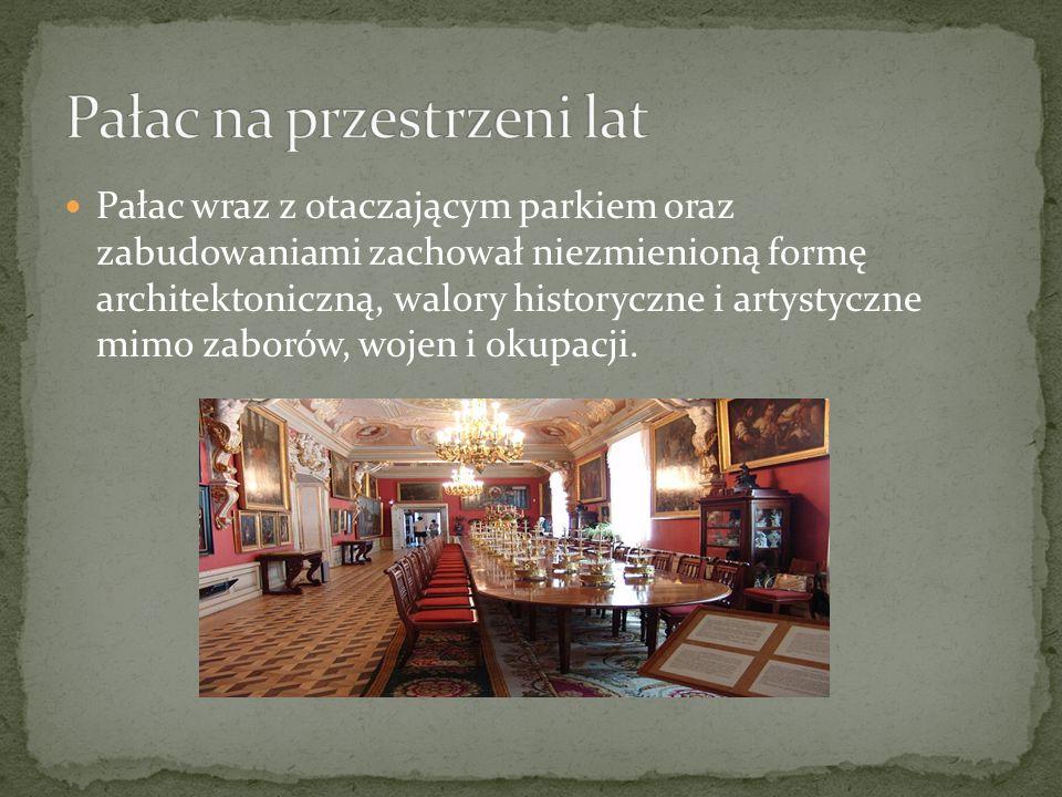 Pałac na przestrzeni lat