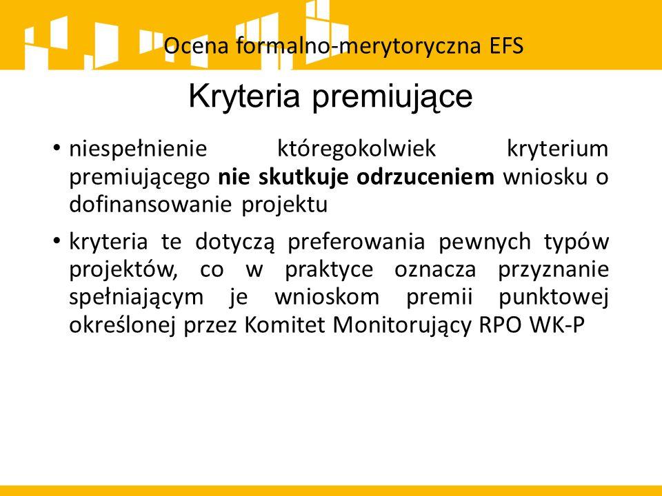 Ocena formalno-merytoryczna EFS