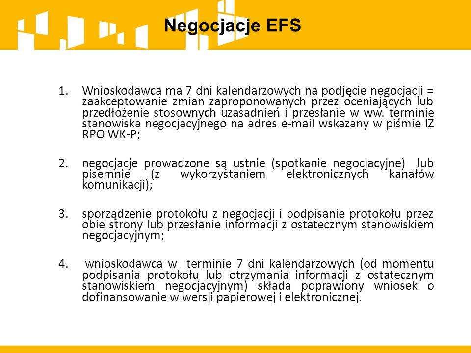 Negocjacje EFS