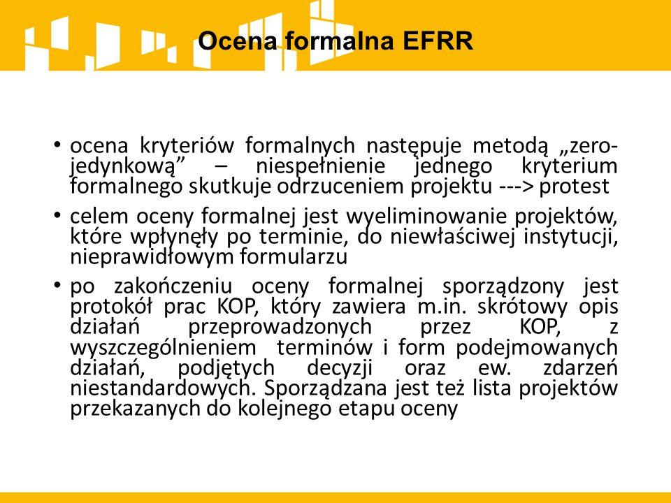 Ocena formalna EFRR