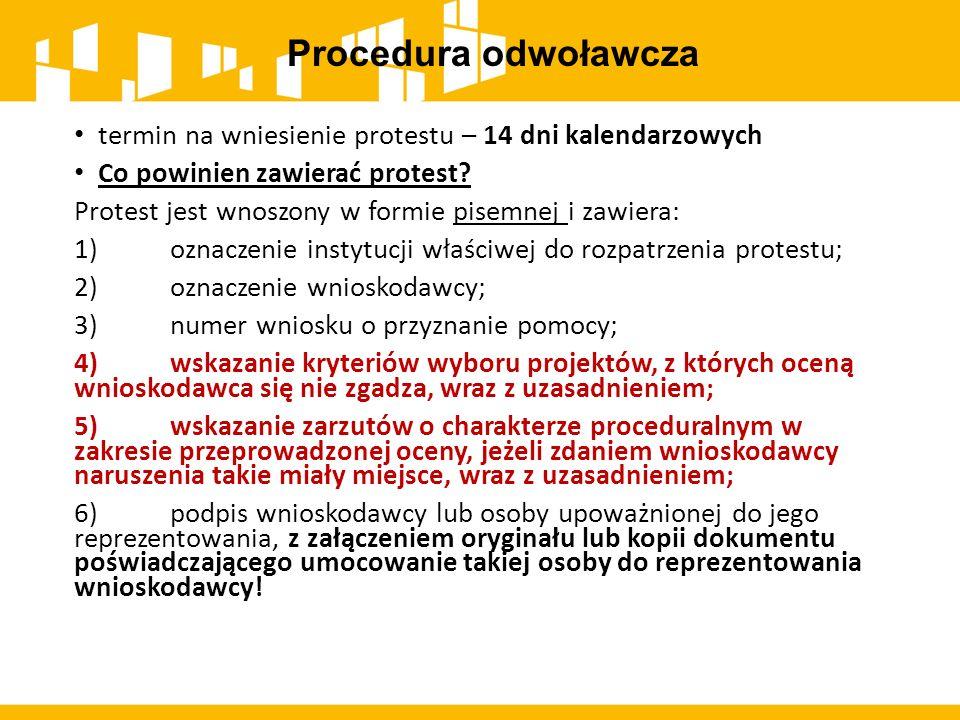 Procedura odwoławcza termin na wniesienie protestu – 14 dni kalendarzowych. Co powinien zawierać protest