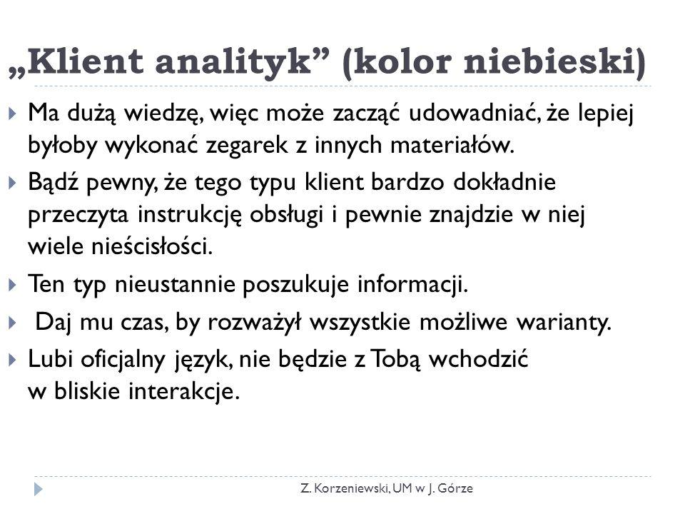 """Klient analityk (kolor niebieski)"