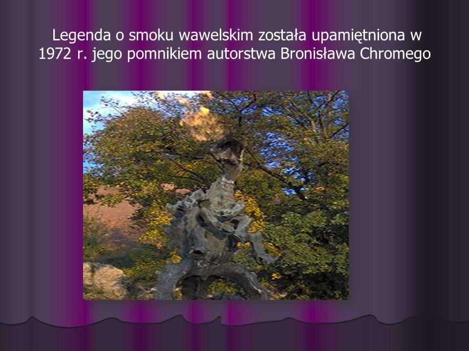 Legenda o smoku wawelskim została upamiętniona w 1972 r