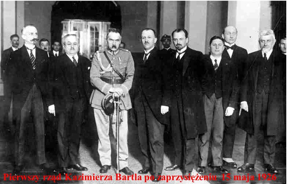 Pierwszy rząd Kazimierza Bartla po zaprzysiężeniu 15 maja 1926