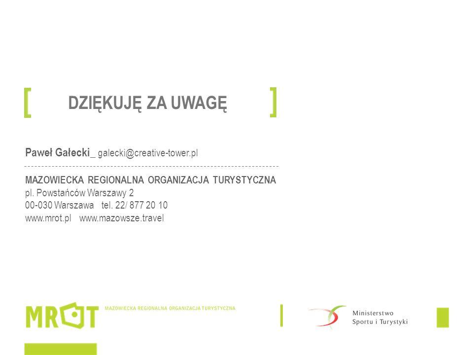 DZIĘKUJĘ ZA UWAGĘ Paweł Gałecki_ galecki@creative-tower.pl