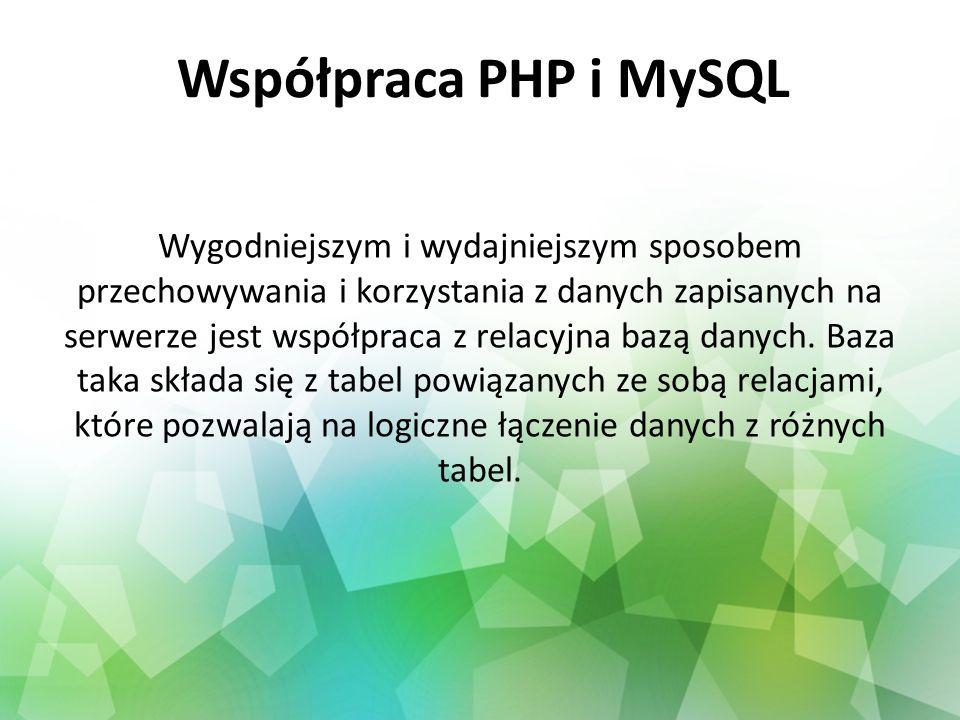 Współpraca PHP i MySQL