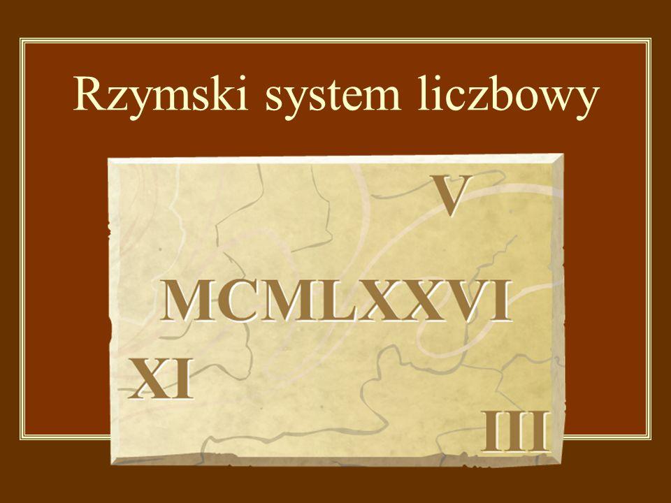 Rzymski system liczbowy