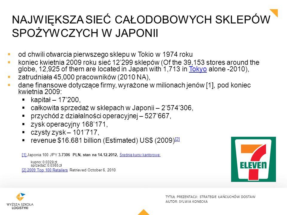 Największa sieć całodobowych sklepów spożywczych w Japonii