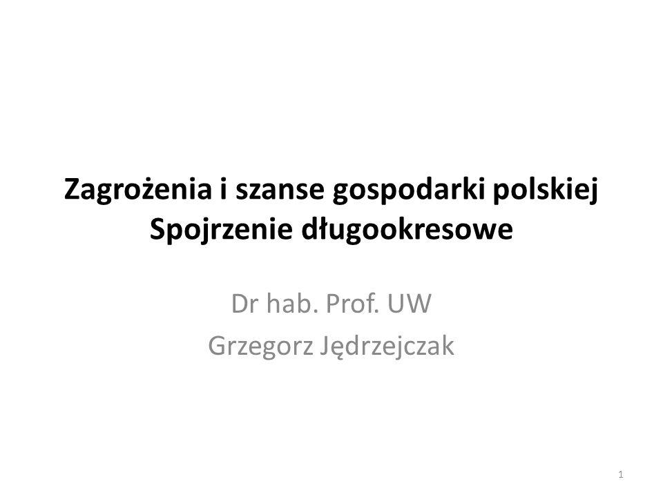 Zagrożenia i szanse gospodarki polskiej Spojrzenie długookresowe