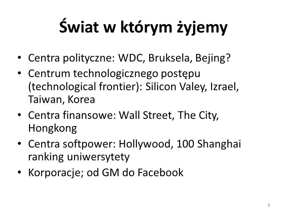 Świat w którym żyjemy Centra polityczne: WDC, Bruksela, Bejing