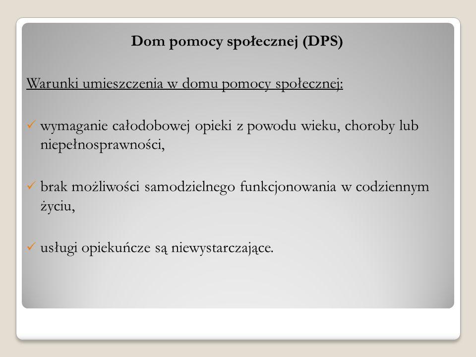 Dom pomocy społecznej (DPS)