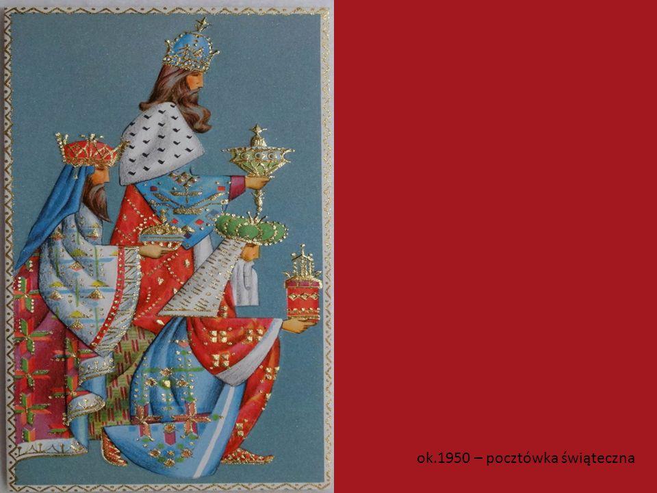 ok.1950 – pocztówka świąteczna