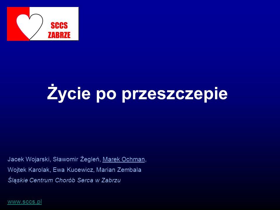 Życie po przeszczepie Jacek Wojarski, Sławomir Żegleń, Marek Ochman,
