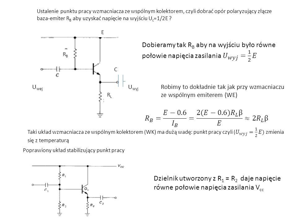 𝑅 𝐵 = 𝐸−0.6 𝐼 𝐵 = 2(𝐸−0.6) 𝑅 𝐿 β 𝐸 ≈2 𝑅 𝐿 β