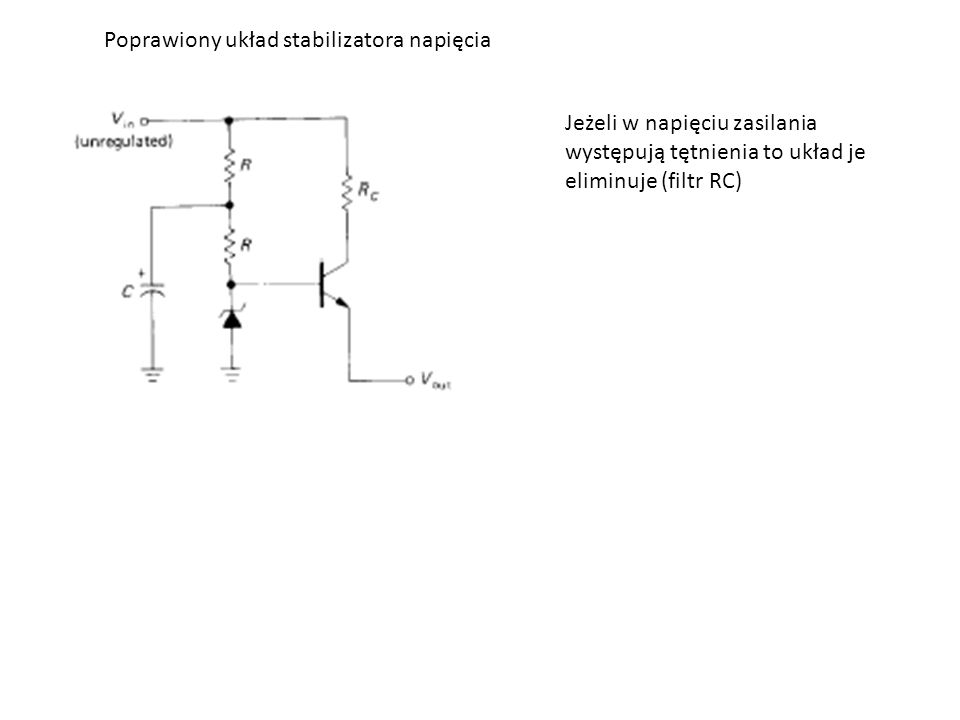 Poprawiony układ stabilizatora napięcia