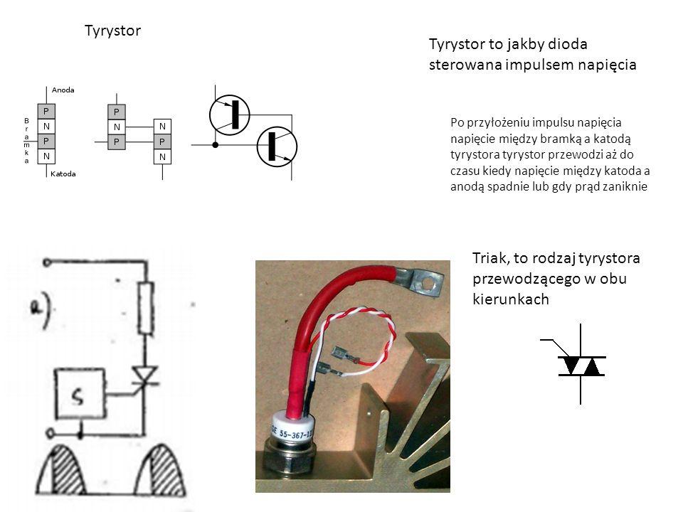 Tyrystor to jakby dioda sterowana impulsem napięcia