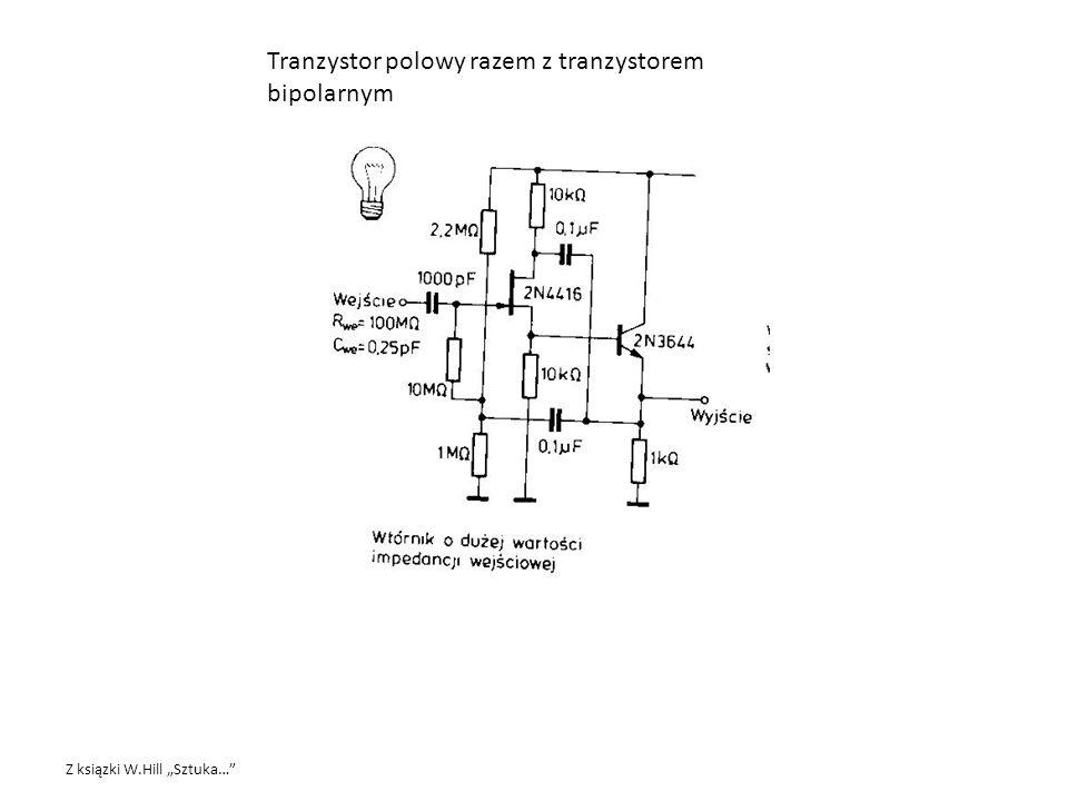 Tranzystor polowy razem z tranzystorem bipolarnym
