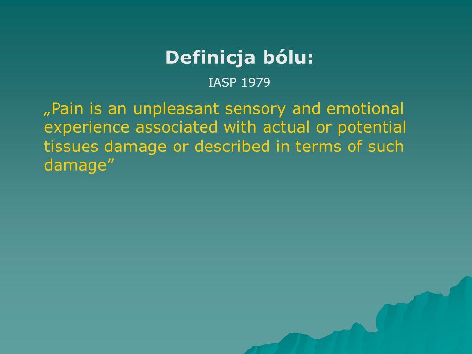 Definicja bólu: IASP 1979.