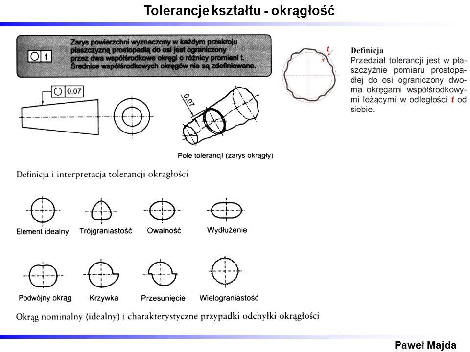 Tolerancje kształtu - okrągłość