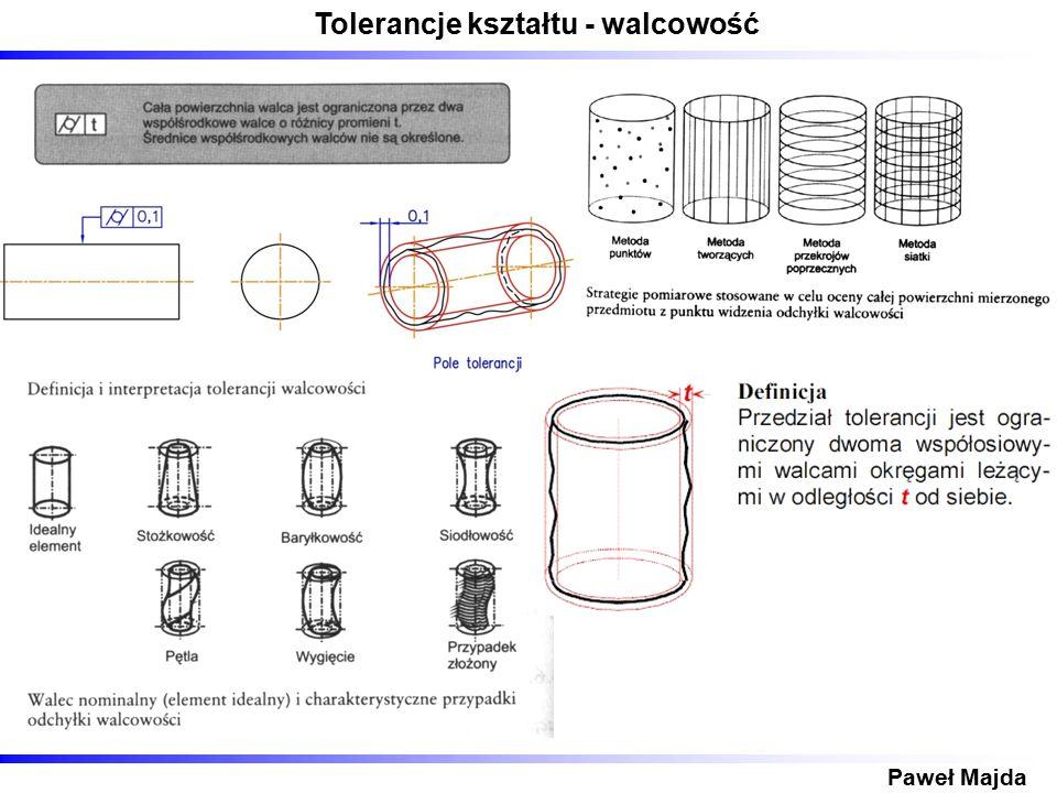 Tolerancje kształtu - walcowość