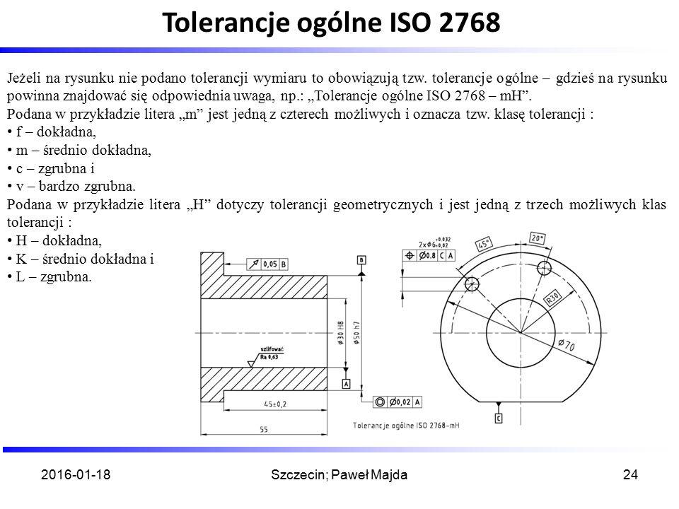 Tolerancje ogólne ISO 2768