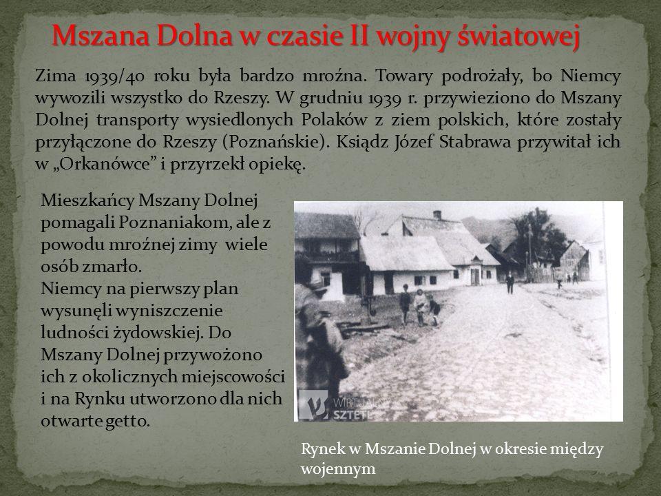 Mszana Dolna w czasie II wojny światowej