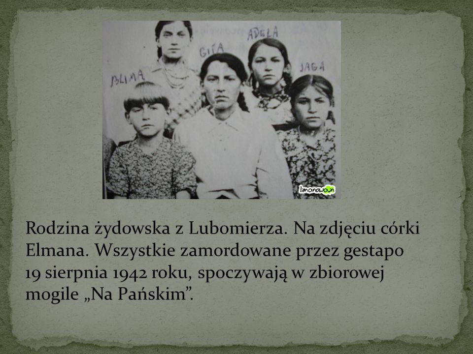 Rodzina żydowska z Lubomierza. Na zdjęciu córki Elmana
