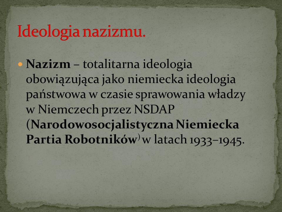 Ideologia nazizmu.