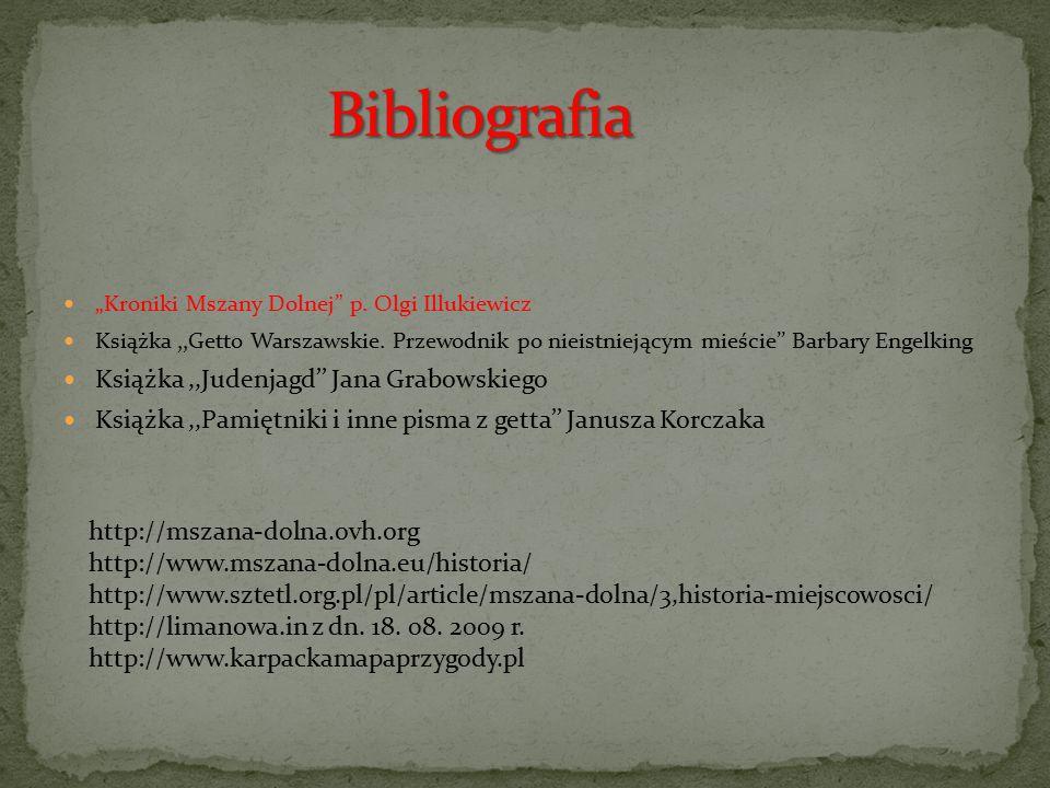 Bibliografia Książka ,,Judenjagd'' Jana Grabowskiego