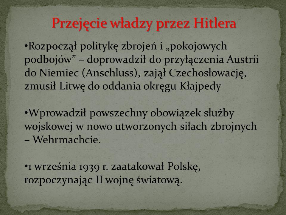 Przejęcie władzy przez Hitlera