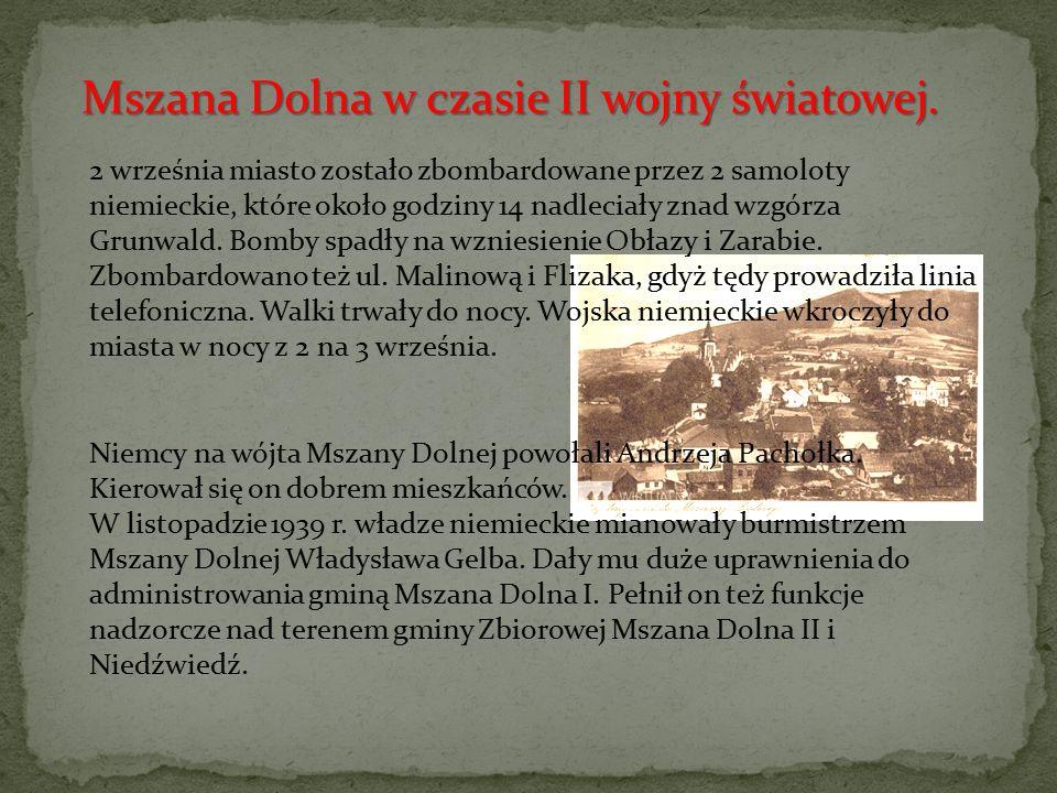 Mszana Dolna w czasie II wojny światowej.