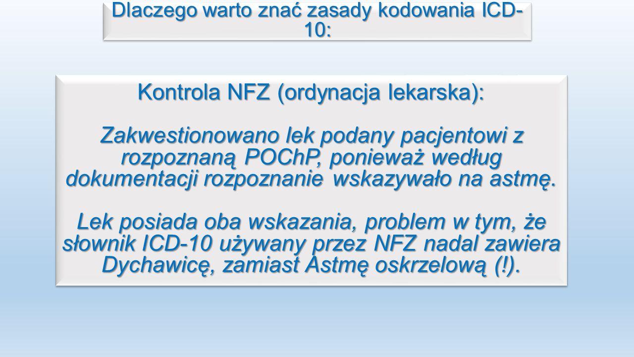 Kontrola NFZ (ordynacja lekarska):