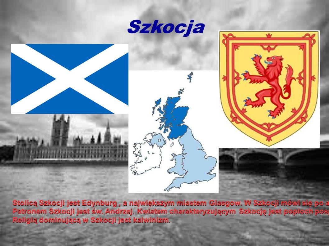 Szkocja Stolicą Szkocji jest Edynburg , a największym miastem Glasgow. W Szkocji mówi się po angielsku, szkocku, gealickiemu i językiem scots.