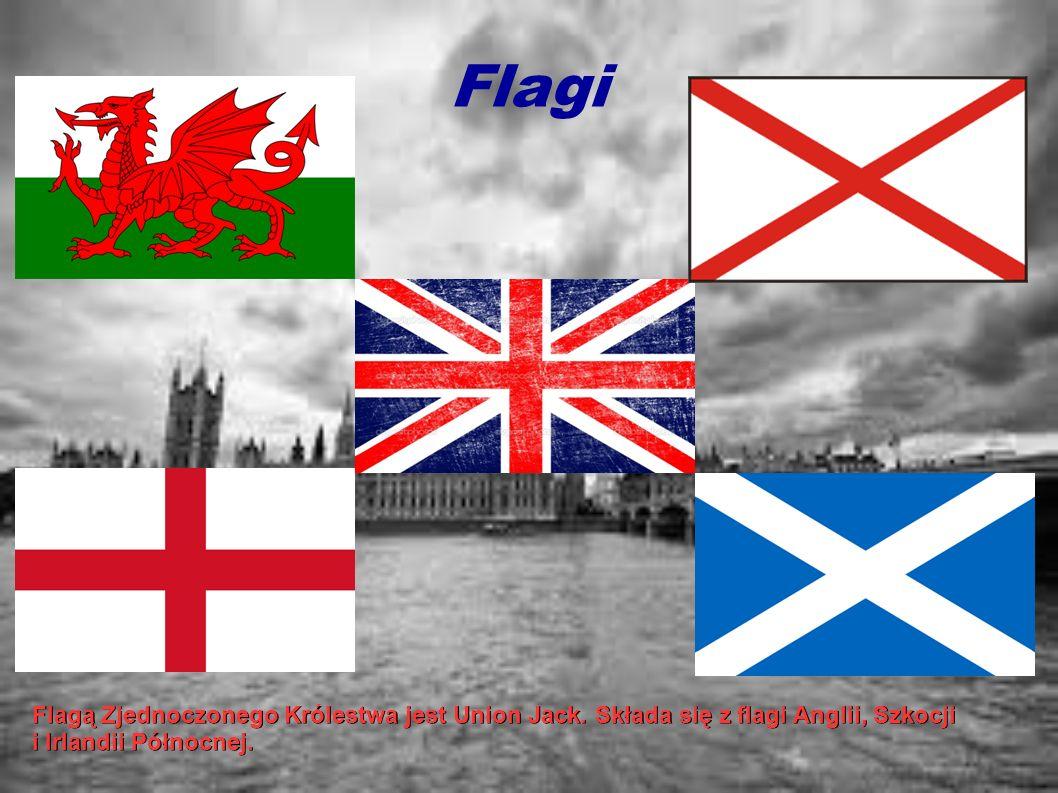Flagi . Flagą Zjednoczonego Królestwa jest Union Jack.