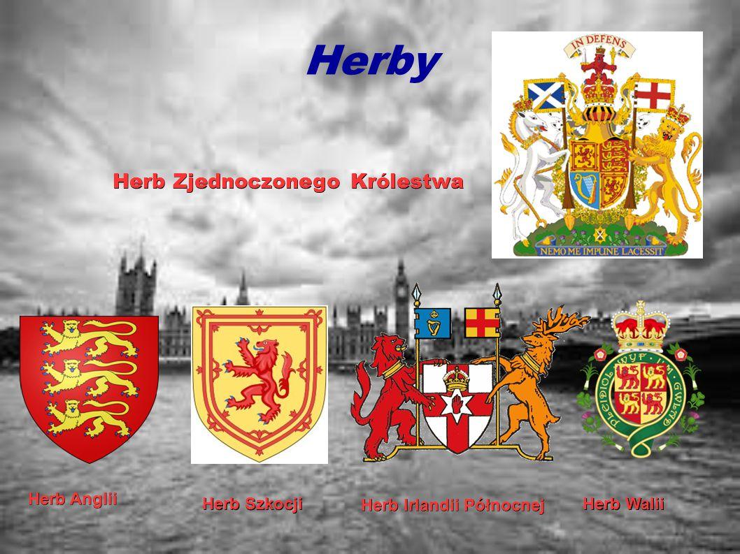 Herby Herb Zjednoczonego Królestwa Herb Anglii Herb Szkocji